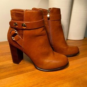 Forever New tan short boots size 38